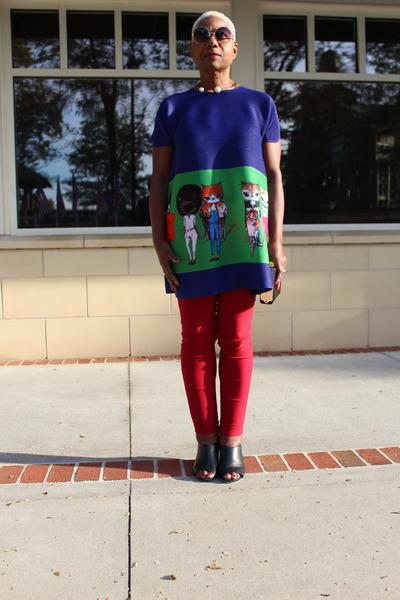KK2 top - red lisette pants
