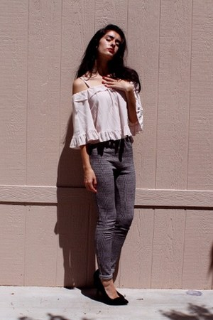 Sheinside blouse - Forever 21 pants