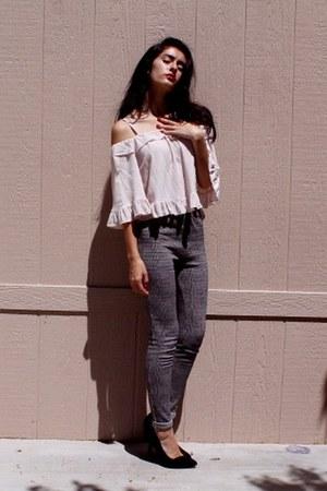 Sheinside blouse - Forever 21 pants