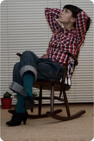 shirt - jeans - panties - shoes