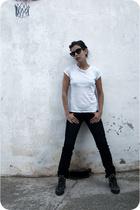 jeans - shoes - glasses
