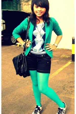 Pinion vest - the emporium blazer - hardware jeans by luna maya shorts - random