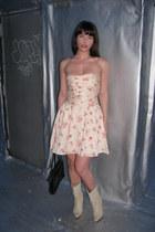 No Relation Vintage boots - No Relation Vintage dress