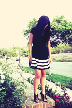 black Forever 21 dress - black Zara shoes