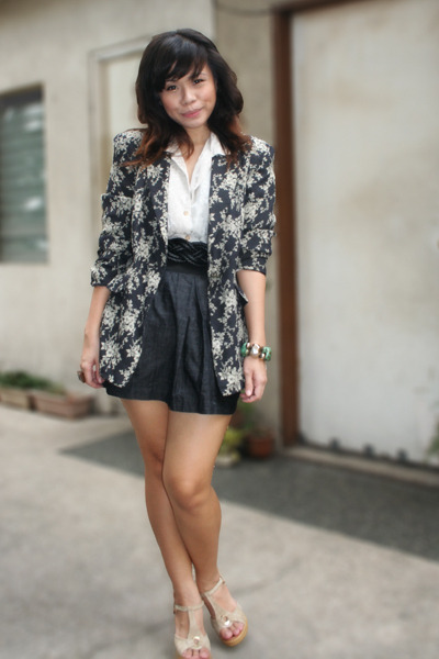 Archive Clothing blazer - Tela Couture blouse - skirt