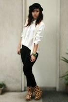 eggshell vest - black sm dept store hat - white Archive Clothing shirt