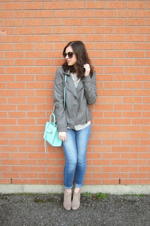 Walmart boots - Lucky Brand jeans - Forever 21 jacket - Rebecca Minkoff bag