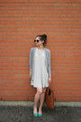 White-stripes-american-eagle-dress-heather-gray-american-eagle-sweater