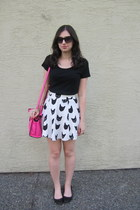 black Target shirt - hot pink kate spade saturday bag