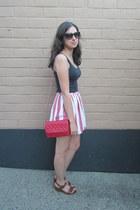 American Apparel skirt - Old Navy shirt - Forever 21 bag - Nine West sunglasses