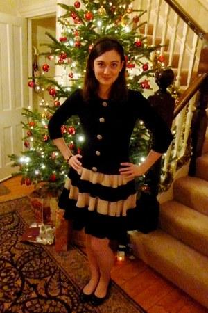 black Laura Ashley cardigan - peach Louche skirt