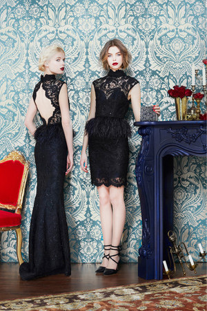black lace Alice  Olivia dress