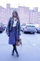 balenciaga jacket - Marni clogs - vintage skirt - Vero Moda top