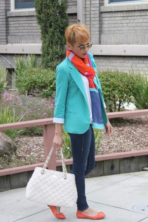 turquoise blue Silence Noise blazer - turquoise blue Gap scarf
