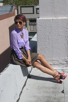 magenta Zara sandals - light purple Funky Elegance shirt