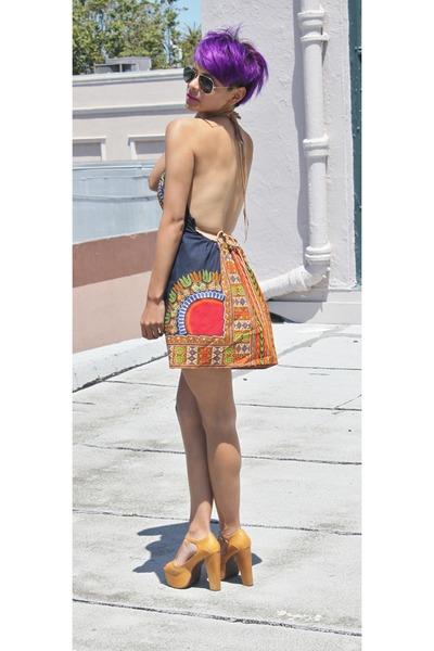 tawny RocknReconstruct dress