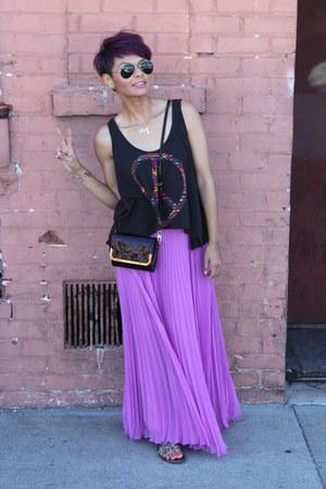 amethyst maxi Laundry by Shelli Segal shirt - deep purple Louis Vuitton bag