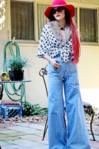 super wide leg telltale hearts vintage jeans - surface to air shoes