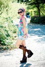 Watercolor-unif-shirt-strappy-wedges-forever-21-shoes-forever-21-sunglasses