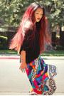Forever21-shirt-vintage-skirt-target-heels