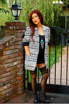 blazer - H&M necklace - sam edelman boots