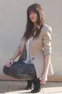Beige-zara-jacket-gray-h-m-leggings-beige-h-m-cardigan-black-vintage-boots