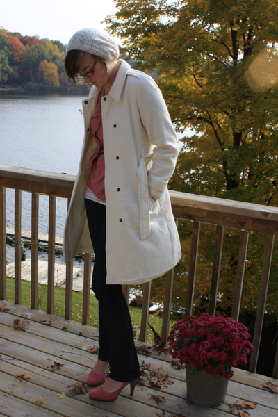 Old Navy coat - f21 hat - simply vera wang shirt - delias jeans - payless shoes