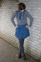 dress - f21 sweater - kohls tights - DSW shoes - earrings