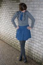 dress - f21 sweater - kohls tights - DSW shoes - earrings