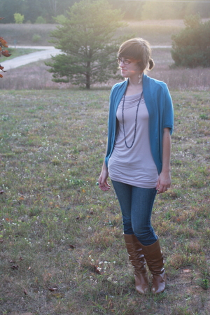 f21 shirt - kohls sweater - delias jeans - Aldo boots