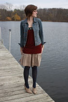 f21 jacket - f21 shirt - Gap skirt - kohls tights - Report shoes