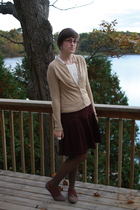 f21 shirt - Old Navy sweater - ae skirt - Meijer tights - UO shoes - pier one ac