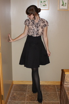 Rue 21 blouse - UO skirt - kohls tights - why not shoes - f21 earrings