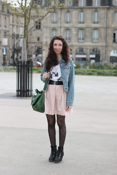 H&M bag - H&M t-shirt - H&M belt - homemade skirt