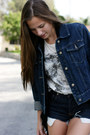 Navy-denim-jacket-jacket-white-lion-romwe-shirt-navy-denim-diy-shorts