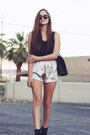 Black-military-heel-steve-madden-boots-silver-silk-thrifted-shorts-black-sil