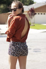 Light-brown-lace-up-steve-madden-boots-camel-leopard-print-forever-21-shorts-