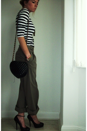 Topshop pants - new look shoes - vintage accessories - Topshop top