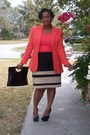 Peach-goodwill-blazer-jcpenny-skirt