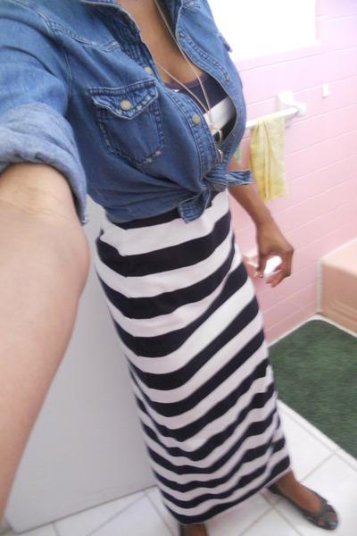 04f63843895 white Forever 21 dress - denim shirt Miley Cyrus brand for Walmart shirt -  black
