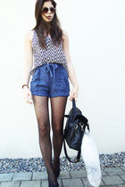 black satchel Wholesale-Dress bag - blue iwearsin shorts