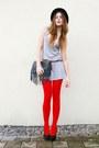Black-hat-red-welovecolors-tights-black-bag-heather-gray-top-black-heels
