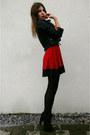 Red-skater-dress