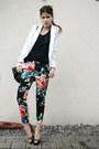 Floral-pants-black-studded-heels