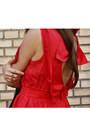 Red-romper-gold-ring-accessories