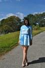 Sky-blue-cloud-choies-blouse-sky-blue-cloud-choies-skirt-nude-wedges