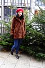 Brown-fake-fur-zara-coat
