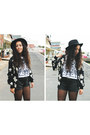 Black-flowered-jacket-banggood-jacket-black-sammydress-shorts