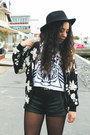 Black-flowered-jacket-banggood-jacket-black-sammydress-shorts