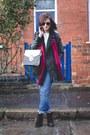 Black-chelsea-boots-zara-boots-dark-gray-biker-jacket-primark-coat